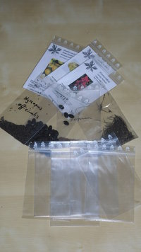 100 Clear plastic self-closing bags 8 x 12 cm